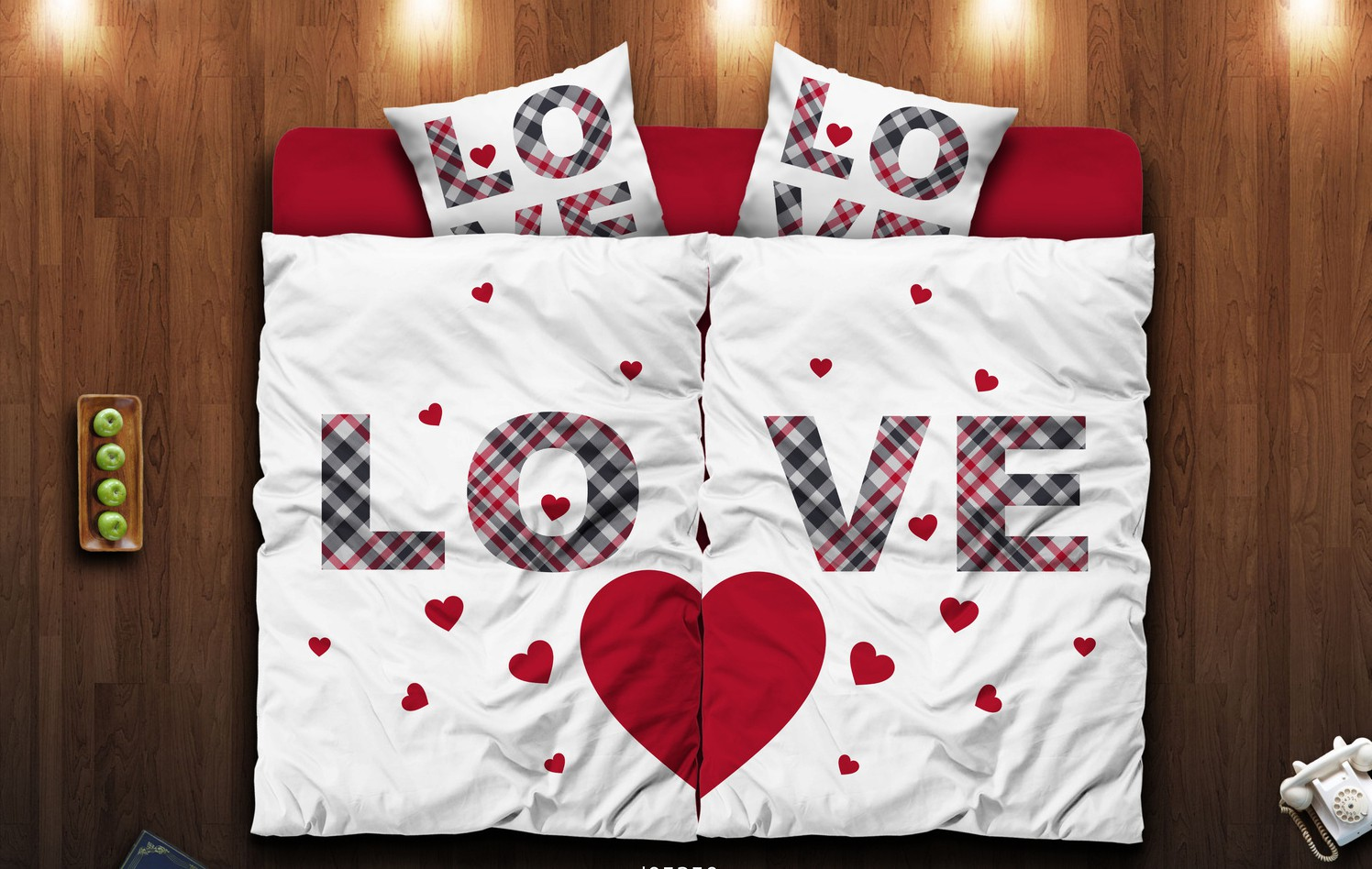 partner p rchen bettw sche 135x200 cm microfaser love p rchen herz premiumdruck ebay. Black Bedroom Furniture Sets. Home Design Ideas