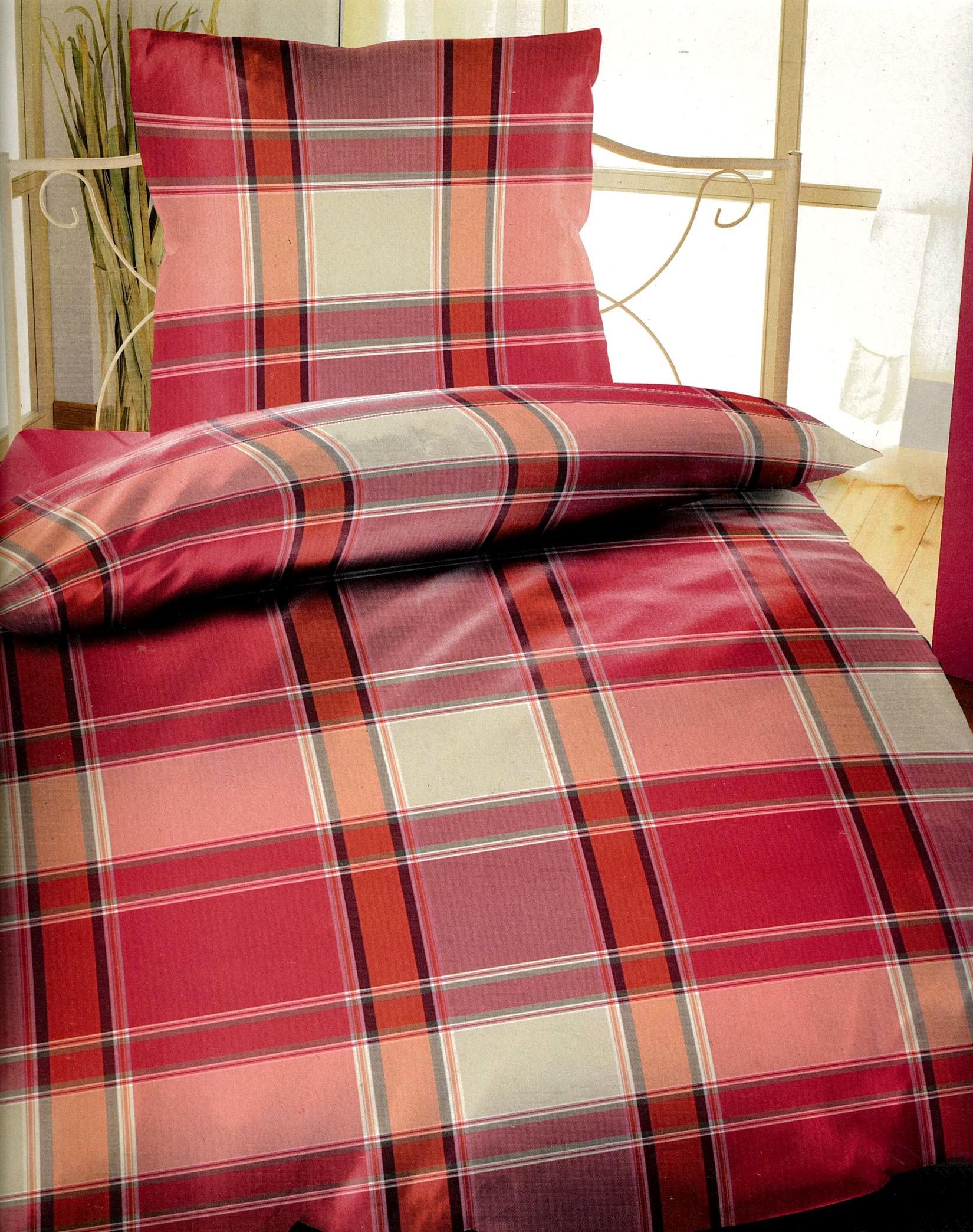 4tlg bettw sche microfaser 135x200 gestreift rosa beige. Black Bedroom Furniture Sets. Home Design Ideas