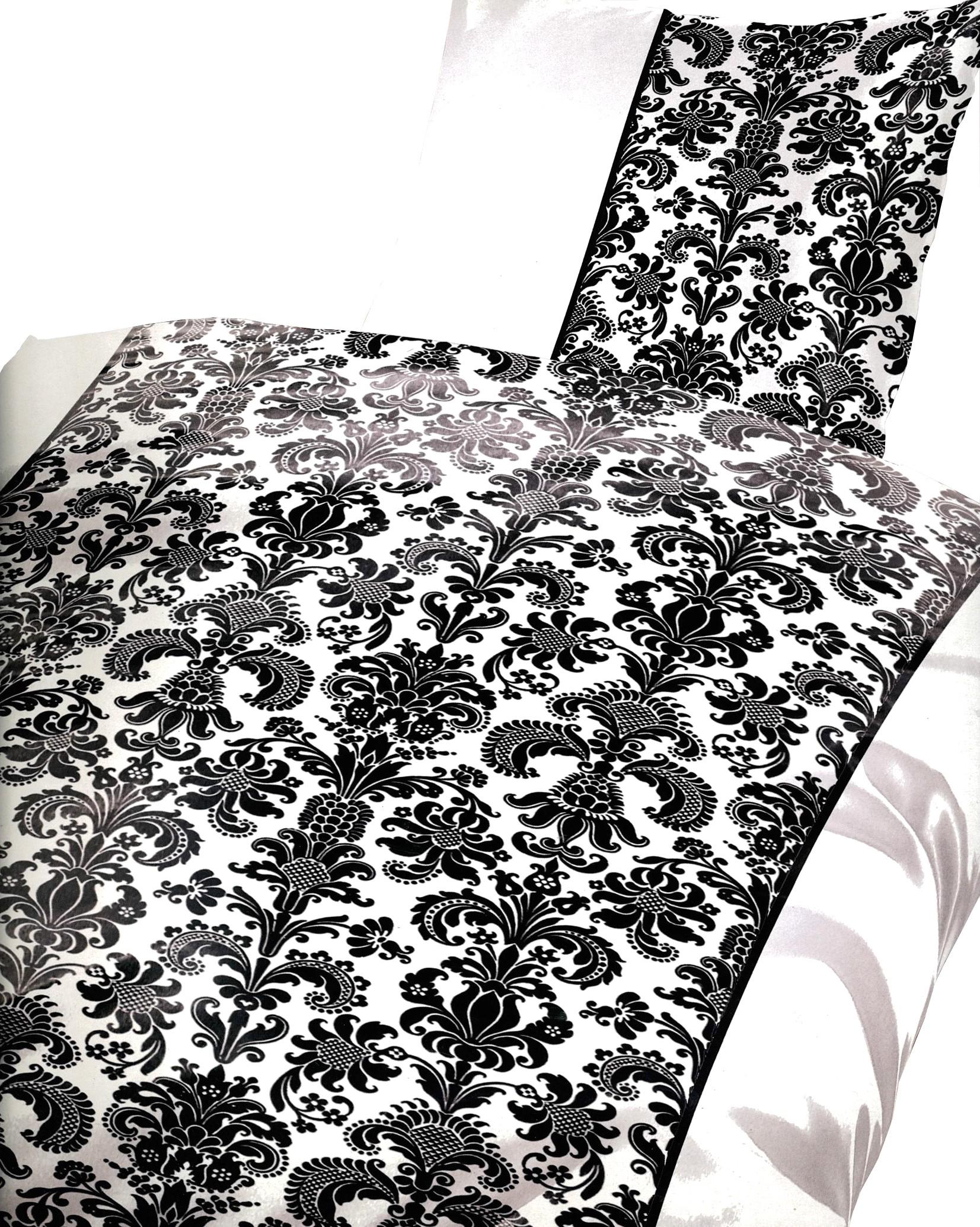 bettw sche 135x200 mikrofaser garnitur set schwarz. Black Bedroom Furniture Sets. Home Design Ideas