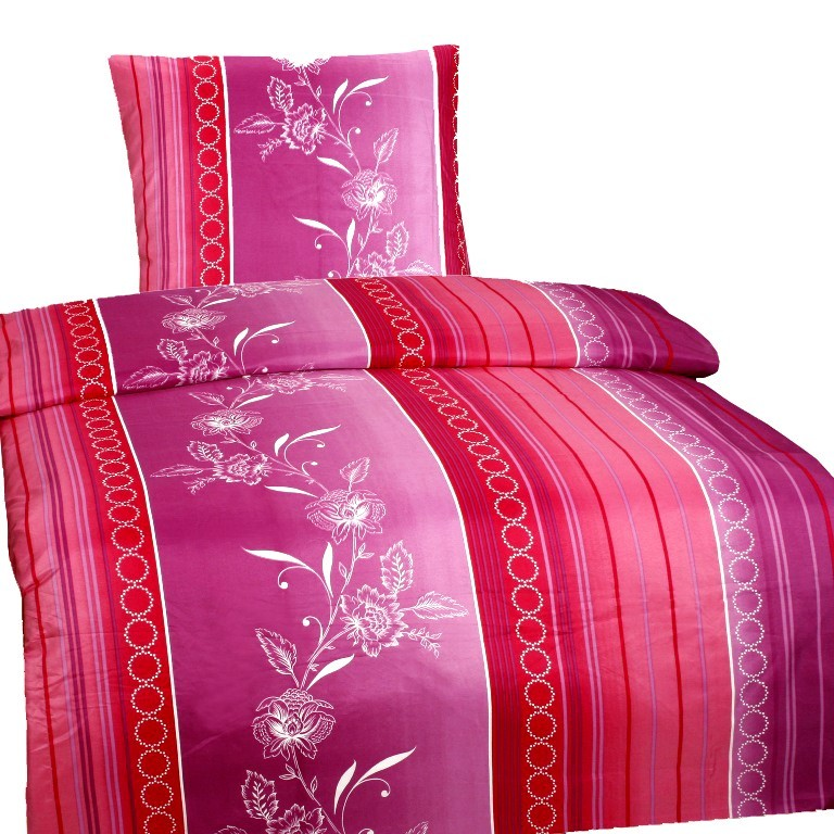 4 tlg bettw sche microfaser 135x200 gebl mt lila rosa garnitur set neu. Black Bedroom Furniture Sets. Home Design Ideas