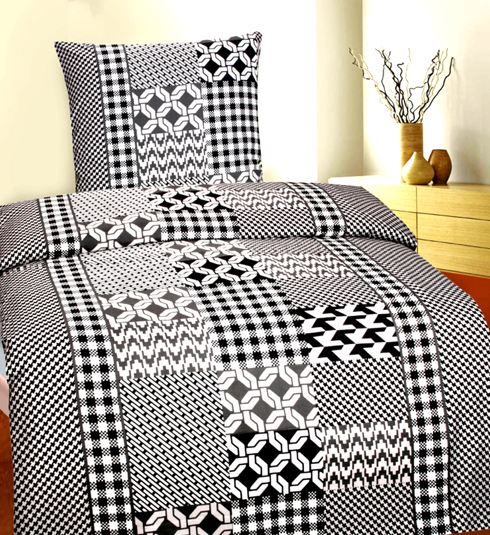 6 tlg winter fleece flausch bettw sche thermofleece 135x200 cm grau wei 4260273032559 ebay. Black Bedroom Furniture Sets. Home Design Ideas