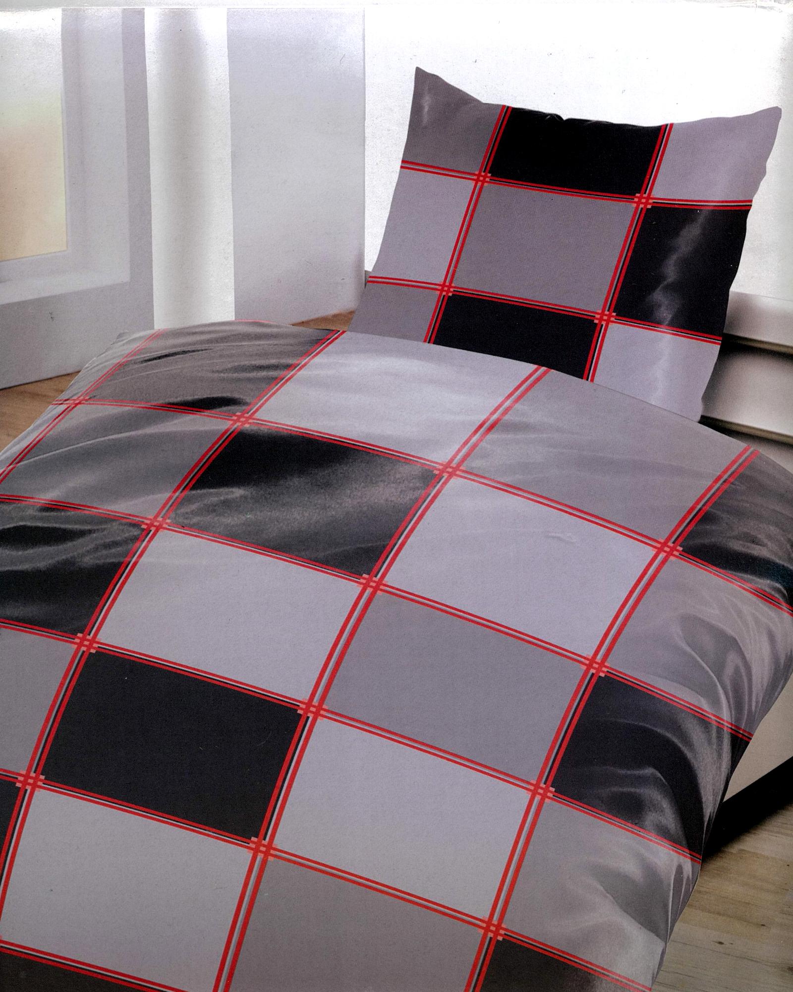 bettw sche rot grau m belideen. Black Bedroom Furniture Sets. Home Design Ideas