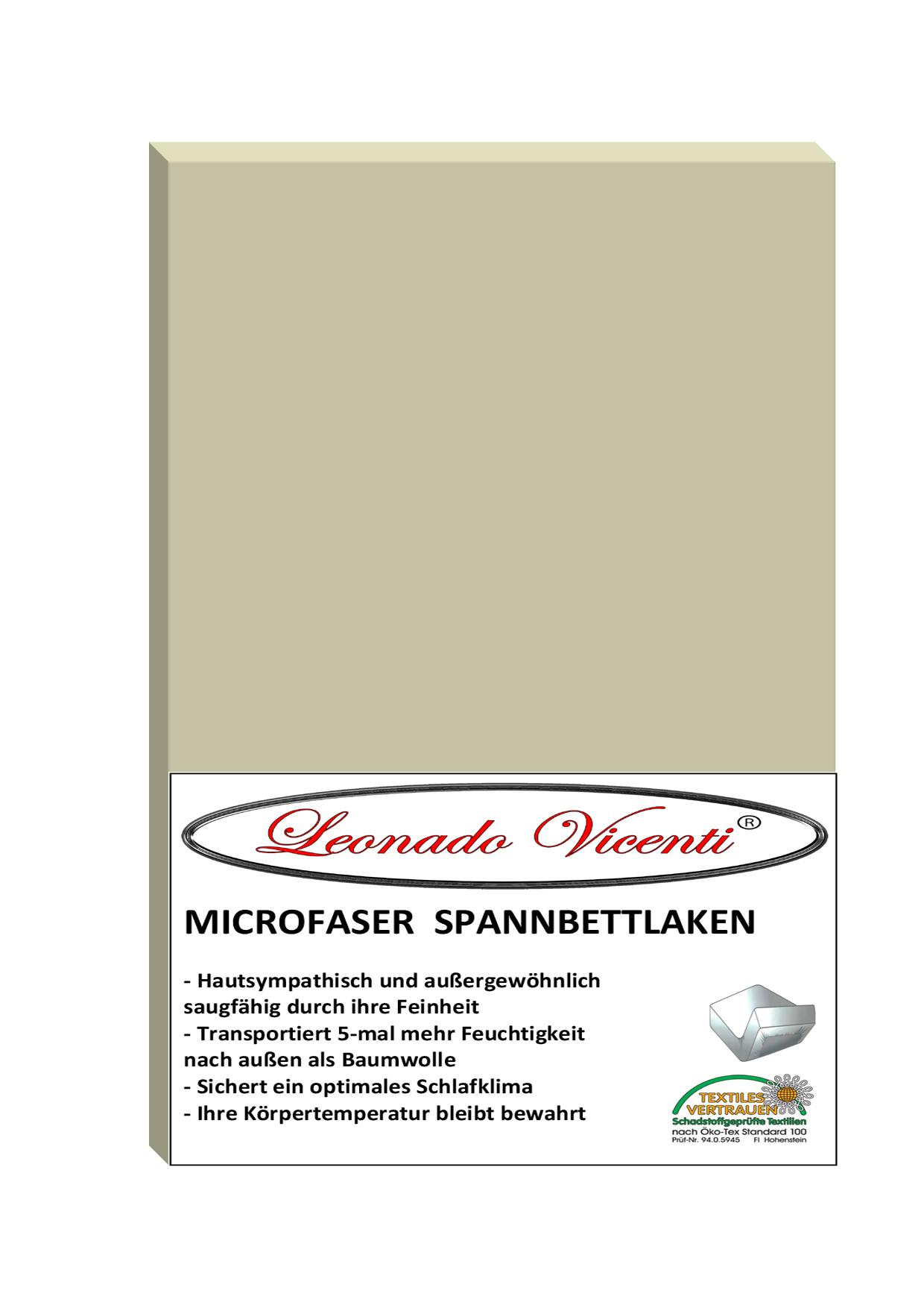 microfaser spannbettlaken 180 200x200 cm beige f r standardmatratzen. Black Bedroom Furniture Sets. Home Design Ideas