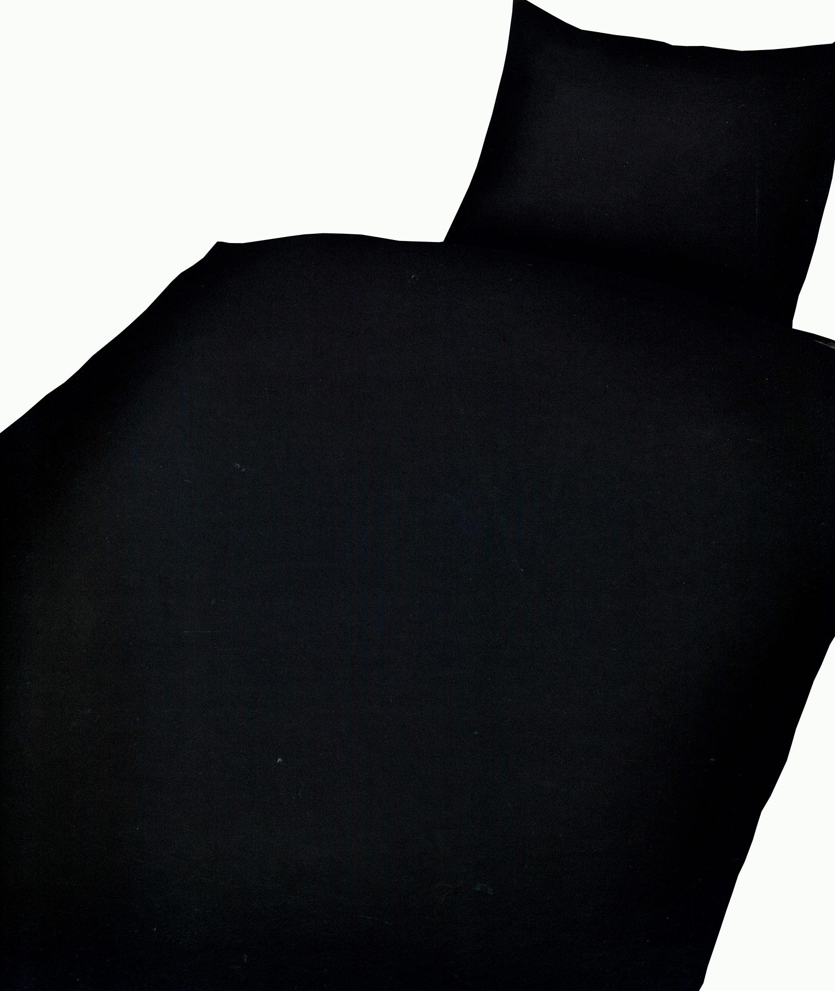 2 tlg bettw sche microfaser 135x200 cm uni einfarbig schwarz garnitur. Black Bedroom Furniture Sets. Home Design Ideas