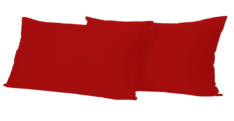 2 st ck baumwolle kopfkissenbezug kissenbezug kissenh lle 40x60 cm rot mit rei verschluss. Black Bedroom Furniture Sets. Home Design Ideas