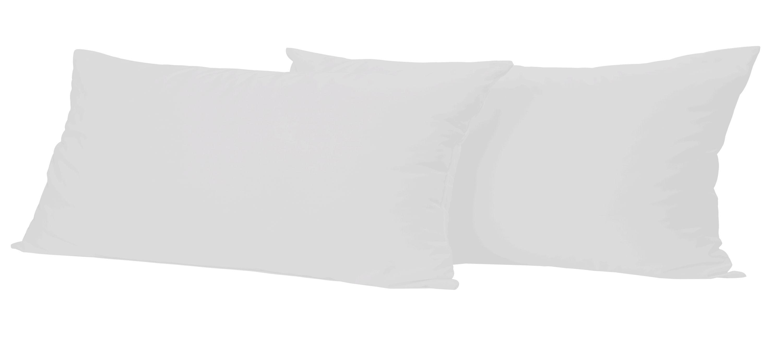 2 st ck baumwolle kopfkissenbezug kissenbezug kissenh lle 40x80 cm grau mit rei verschluss. Black Bedroom Furniture Sets. Home Design Ideas